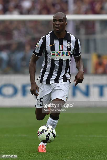 Angelo Ogbonna of Juventus FC in action during the Serie A match between Torino FC and Juventus FC at Stadio Olimpico di Torino on April 26 2015 in...