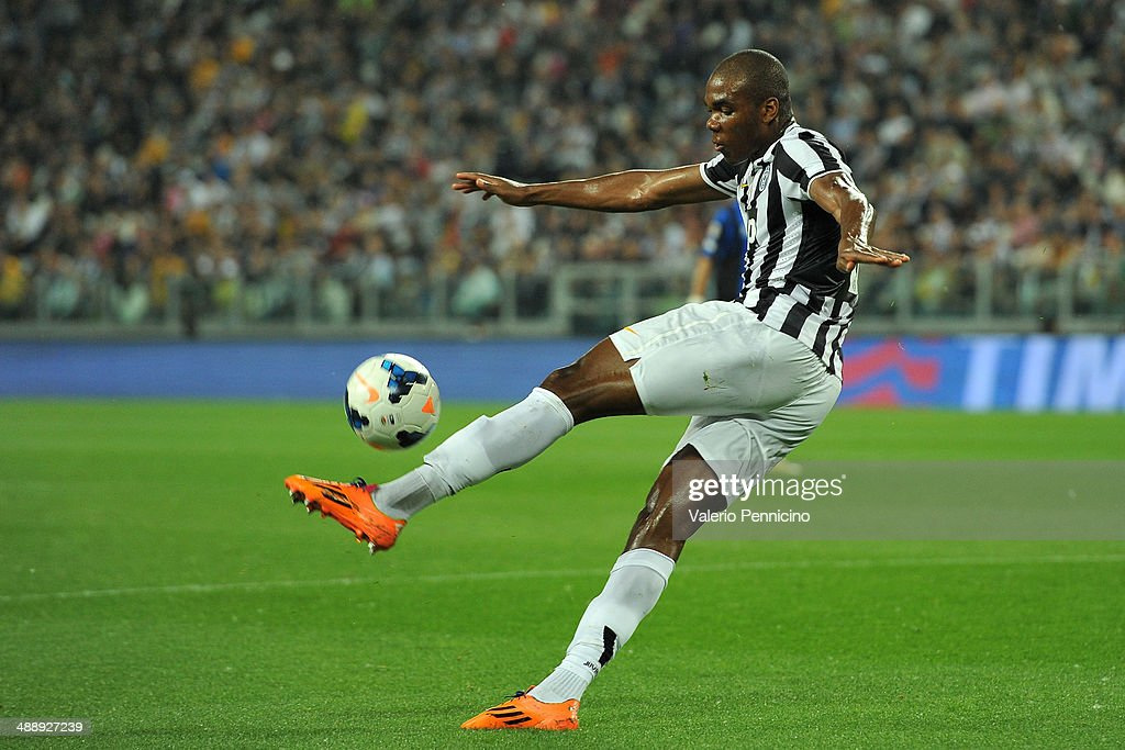 <a gi-track='captionPersonalityLinkClicked' href=/galleries/search?phrase=Angelo+Ogbonna&family=editorial&specificpeople=4285623 ng-click='$event.stopPropagation()'>Angelo Ogbonna</a> of Juventus in action during the Serie A match between Juventus and Atalanta BC at Juventus Arena on May 5, 2014 in Turin, Italy.