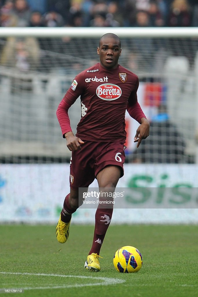 Angelo Ogbonna of Torino FC in action during the Serie A match between Torino FC and Atalanta BC at Stadio Olimpico di Torino on February 17, 2013 in Turin, Italy.