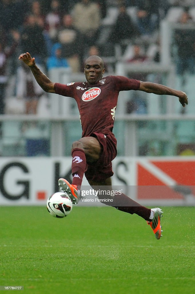 Angelo Ogbonna of Torino FC in action during the Serie A match between Torino FC and Juventus at Stadio Olimpico di Torino on April 28, 2013 in Turin, Italy.