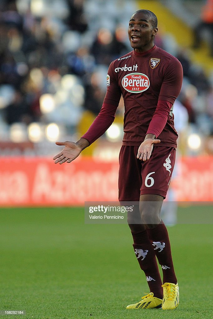 Angelo Ogbonna of Torino FC reacts during the Serie A match between Torino FC and AC Milan at Stadio Olimpico di Torino on December 9, 2012 in Turin, Italy.