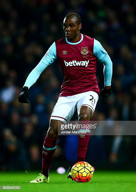Angelo Ogbonna of West Ham during the Barclays Premier League match between West Ham United and Southampton at Boleyn Ground on December 28 2015 in...