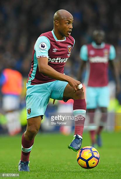 Angelo Ogbonna of West Ham United in action during the Premier League match between Everton and West Ham United at Goodison Park on October 30 2016...
