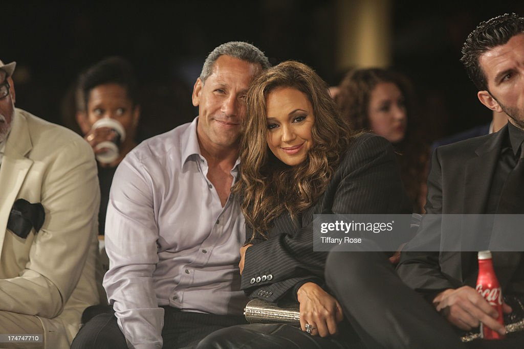 Angelo Pagan and Leah Remini attend the 15th Annual DesignCare benefiting The HollyRod Foundation on July 27, 2013 in Malibu, California.