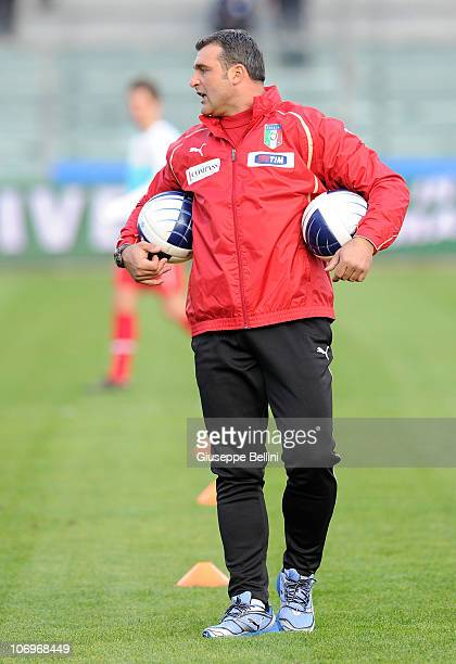Angelo Peruzzi Assistant Coach of Italy during the U21 international friendly match between Italy and Turkey at Stadio Bruno Recchioni on November 17...