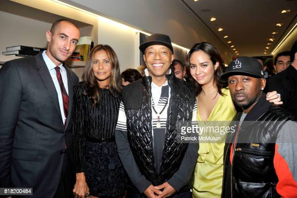 Angelo Peruzzi Maryse Thomas Russell Simmons Anne Marie Miller and Oneal McKnightt attend Technogym US Showroom Launch Event at 70 Greene St on...