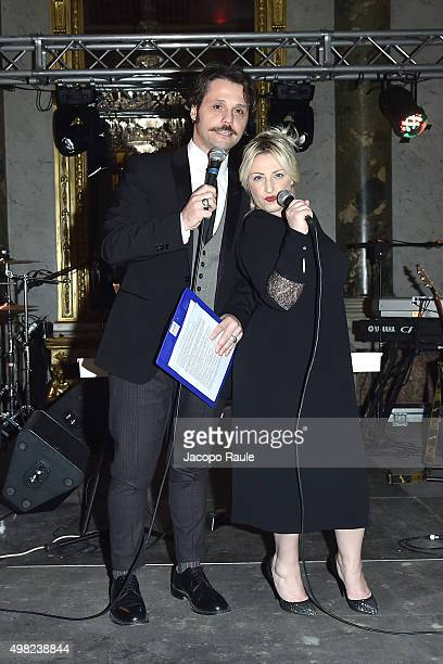Angelo Pisani and Katia Follesa attend the Charity Dancing Party For Haiti hosted by Fondazione Francesca Rava NPH Italia Onlus to support the...