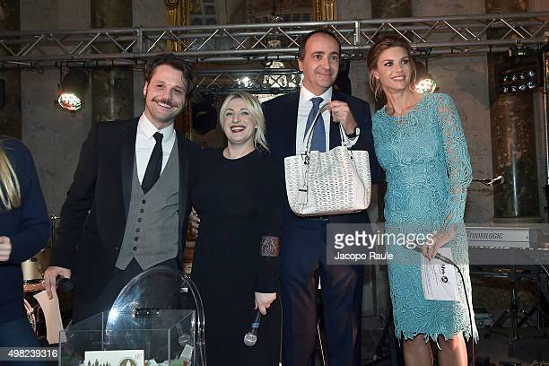 Angelo Pisani Katia Follesa and Martina Colombari attend the Charity Dancing Party For Haiti hosted by Fondazione Francesca Rava NPH Italia Onlus to...