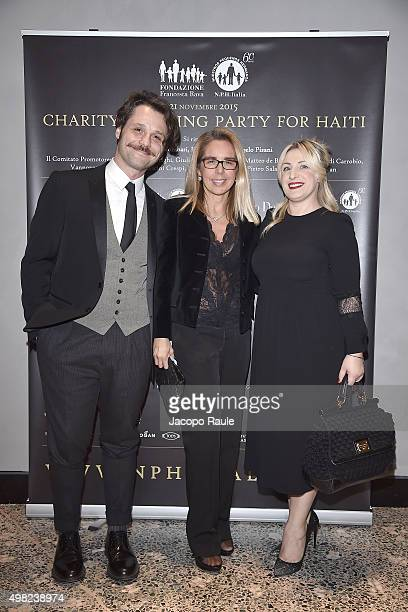 Angelo Pisani Mariavittoria Rava and Katia Follesa attend the Charity Dancing Party For Haiti hosted by Fondazione Francesca Rava NPH Italia Onlus to...