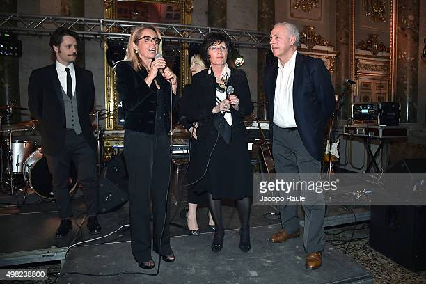 Angelo Pisani Mariavittoria Rava Giovanna Riccipepitoni Katia Follesa and Vincenzo Tomaselli attend the Charity Dancing Party For Haiti hosted by...
