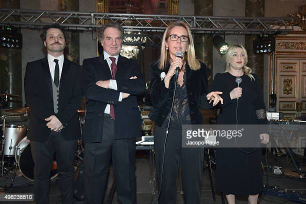 Angelo Pisani Stefano Lado Mariavittoria Rava and Katia Follesa attend the Charity Dancing Party For Haiti hosted by Fondazione Francesca Rava NPH...