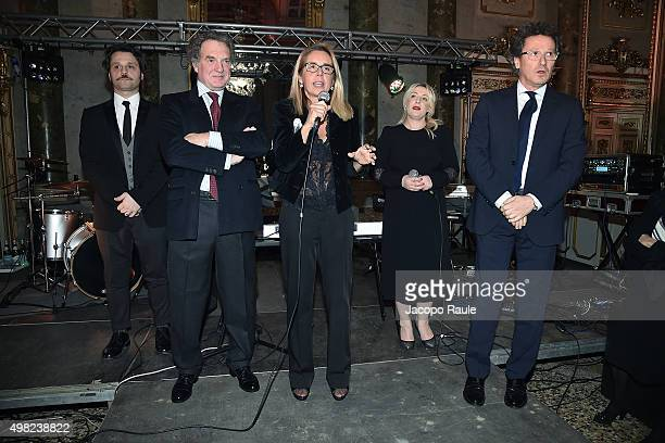 Angelo Pisani Stefano Lado Mariavittoria Rava Katia Follesa and Ruggero Ceriali attend the Charity Dancing Party For Haiti hosted by Fondazione...