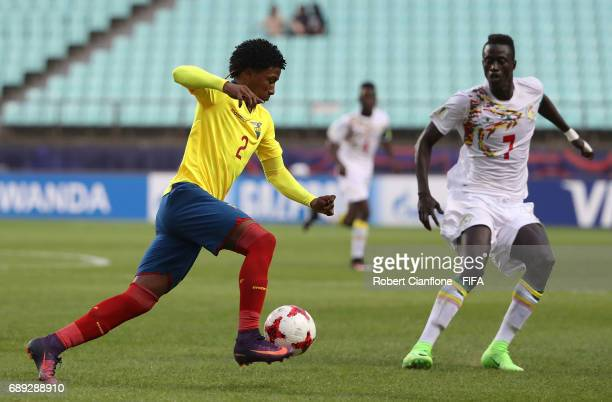 Angelo Preciado of Ecuador is watched by Ibrahima Niane of Senegal during the FIFA U20 World Cup Korea Republic 2017 group F match between Senegal...