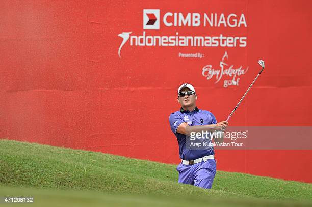 Angelo Que of Philippines pictured during the final round of the Asian Tour's US$750000 CIMB NIAGA Indonesia Masters at Royale Jakarta Golf Club on...