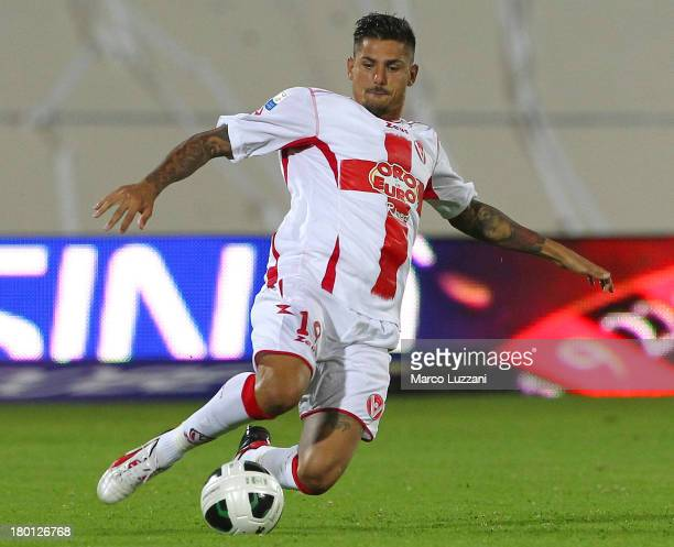 Angelo Rea of AS Varese in action during the Serie B match between AS Varese and Modena FC at Stadio Franco Ossola on August 31 2013 in Varese Italy