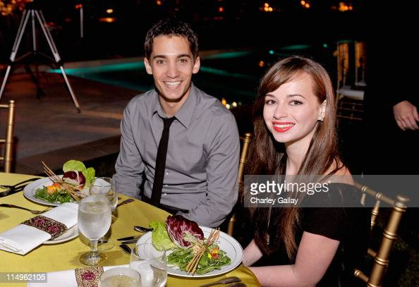 Angelo Restaino and actress Ashley Rickards attend the Somaly Mam Foundation's 2nd annual Los Angeles Gala held at a private residence on September...