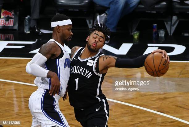 Angelo Russell of Brooklyn Nets in action during NBA basketball match between Brooklyn Nets and Orlando Magic in Barclays Center in Brooklyn borough...
