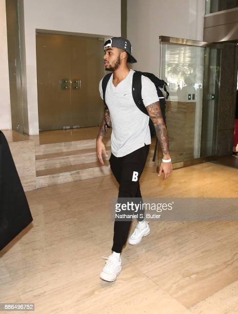 Angelo Russell of the Brooklyn Nets arrives as part of the NBA Mexico Games 2017 on December 5 2017 at the Hyatt Regency Hotel in Mexico City Mexico...