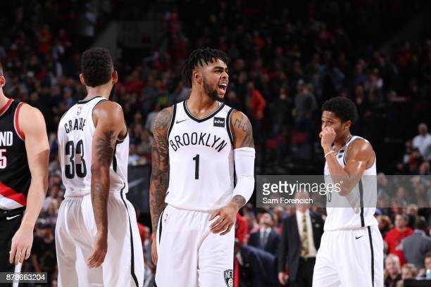 Angelo Russell of the Brooklyn Nets during the game against the Portland Trail Blazers on November 10 2017 at the Moda Center in Portland Oregon NOTE...