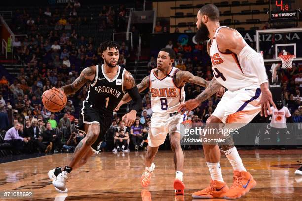 Angelo Russell of the Brooklyn Nets handles the ball against the Phoenix Suns on November 6 2017 at Talking Stick Resort Arena in Phoenix Arizona...