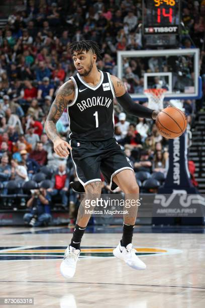 Angelo Russell of the Brooklyn Nets handles the ball against the Utah Jazz on November 11 2017 at Vivint Smart Home Arena in Salt Lake City Utah NOTE...