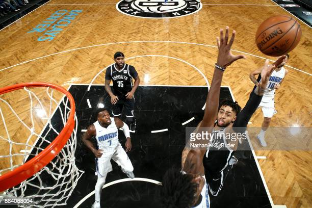Angelo Russell of the Brooklyn Nets shoots the ball against the Orlando Magic on October 20 2017 at Barclays Center in Brooklyn New York NOTE TO USER...