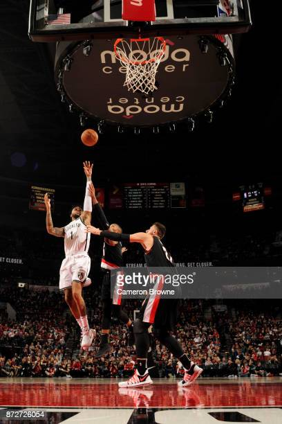Angelo Russell of the Brooklyn Nets shoots the ball against the Portland Trail Blazers on November 10 2017 at the Moda Center in Portland Oregon NOTE...