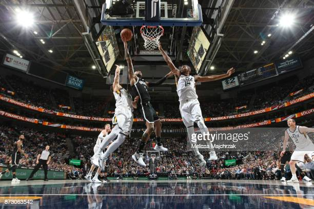 Angelo Russell of the Brooklyn Nets shoots the ball against the Utah Jazz on November 11 2017 at Vivint Smart Home Arena in Salt Lake City Utah NOTE...