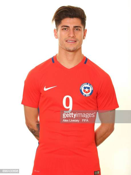 Angelo Sagal of Chile during a portrait session ahead of the FIFA Confederations Cup Russia 2017 at the Crowne Plaza Hotel on June 15 2017 in Moscow...