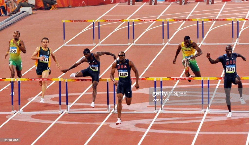 Angelo TAYLOR - - Finale 400m haies - Jeux Olympiques - Pekin,