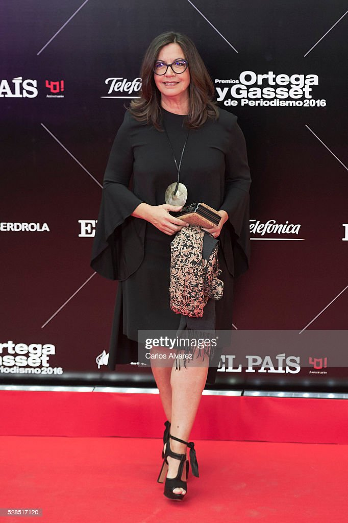 Angels Barcelo attends 'Ortega Y Gasset' journalism awards 2016 at Palacio de Cibeles on May 05, 2016 in Madrid, Spain.