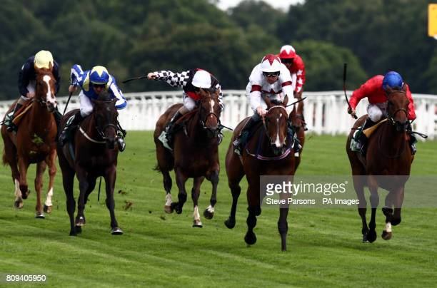 Angels will Fall ridden by Robert Winston beats Regal Realm in the Princess Margaret Juddmonte Stakes at Betfair Weekend during the Betfair Weekend...