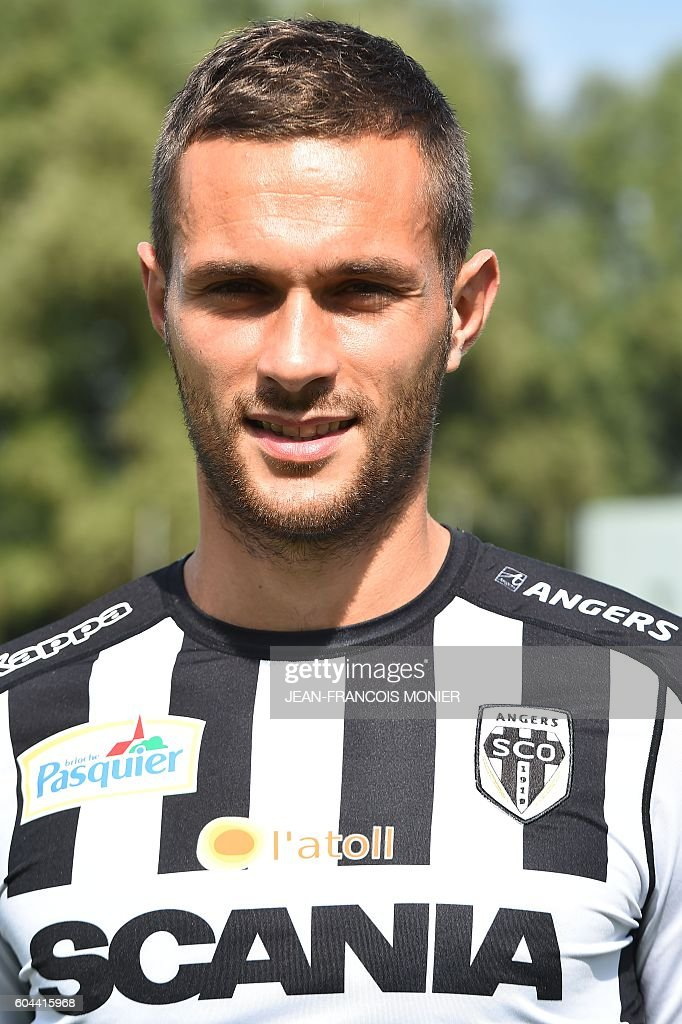 Angers&#39; French defender <b>Pablo Martinez</b> poses at the &#39;La Baumette&#39; stadium in ... - angers-french-defender-pablo-martinez-poses-at-the-la-baumette-in-picture-id604415968