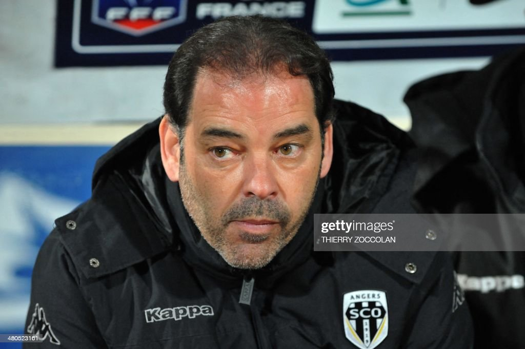 <b>...</b> between Moulins and Angers on March 25, 2014 at the <b>Jean Laville</b> stadium <b>...</b> - angers-head-coach-stephane-moulin-is-pictured-before-the-start-of-the-picture-id480523161
