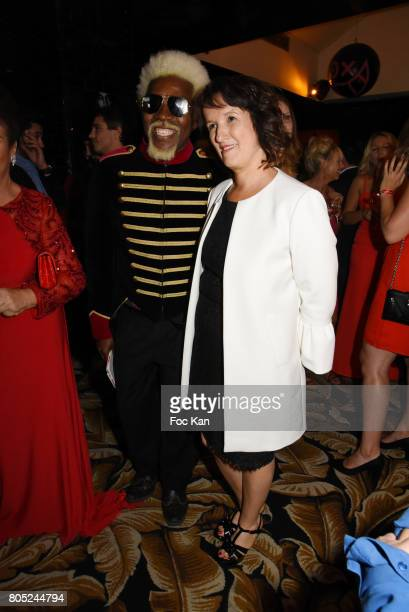 Anggy Haif and Anne Roumanoff attend the 'Red Defile' Auction Fashion Show Hosted by Ajila Association Association Against Women Heart Disease at VIP...