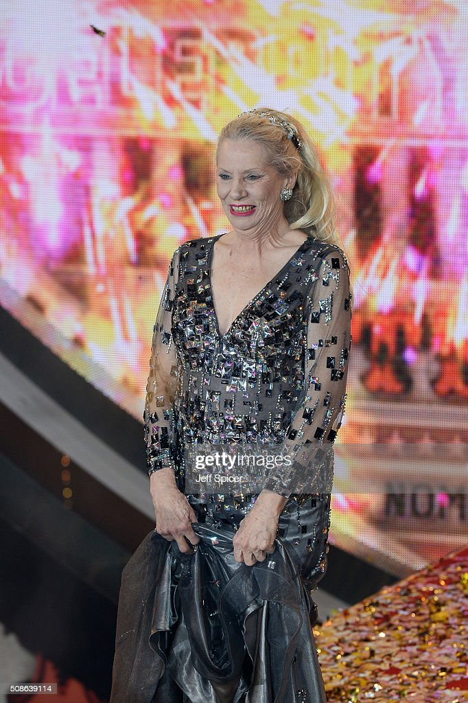 <a gi-track='captionPersonalityLinkClicked' href=/galleries/search?phrase=Angie+Bowie&family=editorial&specificpeople=679525 ng-click='$event.stopPropagation()'>Angie Bowie</a> at the final of Celebrity Big Brother at Elstree Studios on February 5, 2016 in Borehamwood, England.