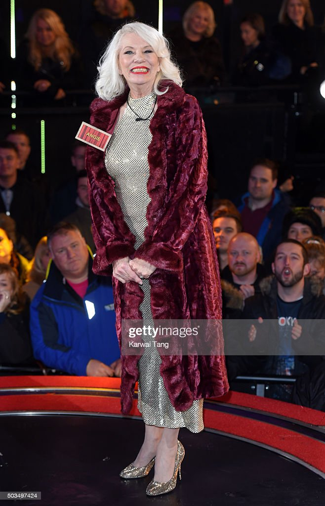 <a gi-track='captionPersonalityLinkClicked' href=/galleries/search?phrase=Angie+Bowie&family=editorial&specificpeople=679525 ng-click='$event.stopPropagation()'>Angie Bowie</a> enters the Celebrity Big Brother House at Elstree Studios on January 5, 2016 in Borehamwood, England.