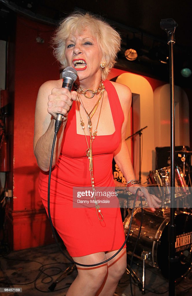 <a gi-track='captionPersonalityLinkClicked' href=/galleries/search?phrase=Angie+Bowie&family=editorial&specificpeople=679525 ng-click='$event.stopPropagation()'>Angie Bowie</a> performs at The 100 Club on April 14, 2010 in London, England.
