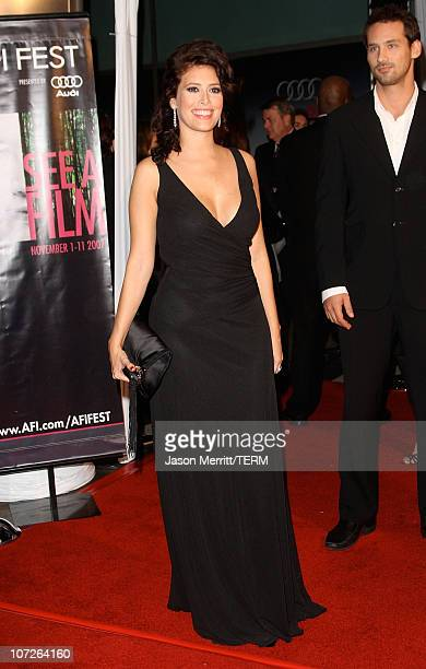 Angie Cepeda arrives at the AFI FEST 2007 presented by Audi closing night gala screening of 'Love In The Time Of Cholera' during held at the Cinerama...