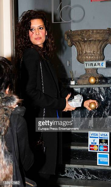 Angie Cepeda attends actress Ana Fernandez's 22nd birthday on November 12 2011 in Madrid Spain
