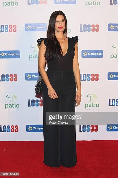 Angie Cepeda attends 'Los 33' Mexico City premiere at Cinepolis Patio Santa Fe on August 24 2015 in Mexico City Mexico