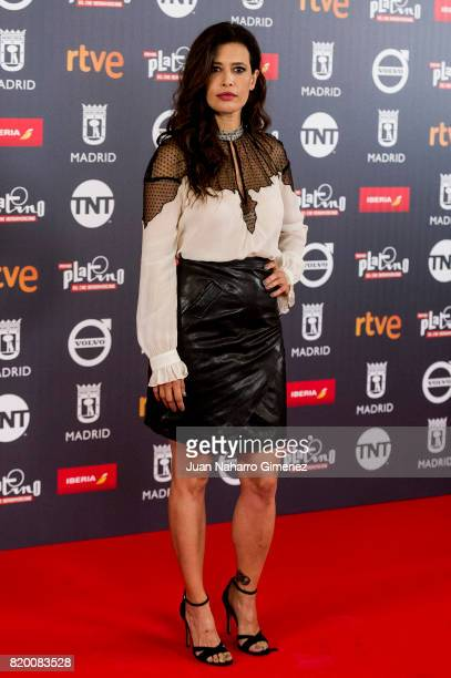 Angie Cepeda attends Platino Awards 2017 press conference on July 21 2017 in Madrid Spain