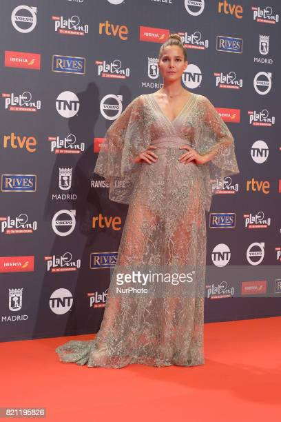 Angie Cepeda attends the Platino Awards 2017 photocall at the La Caja Magica on July 22 2017 in Madrid Spain