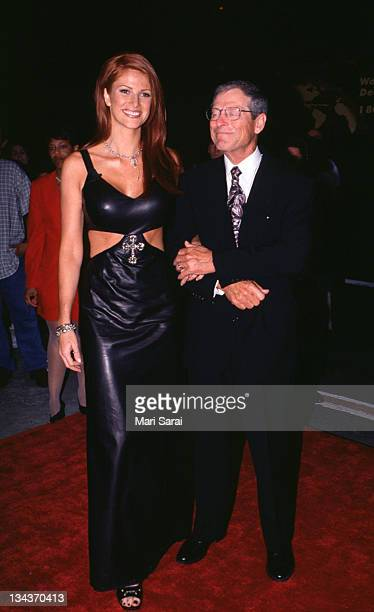 Angie Everhart and father Bobby during Tales from the Crypt Presents Bordello of Blood at World Wide Theater in New York City New York United States
