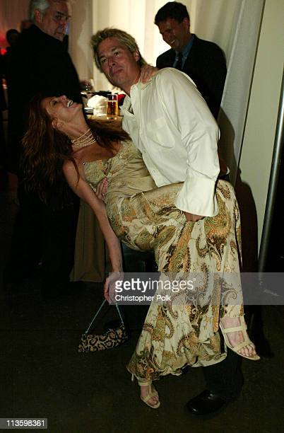 Angie Everhart and Kato Kaelin during 2003 ESPY Awards After Party at Kodak Theatre in Hollywood California United States