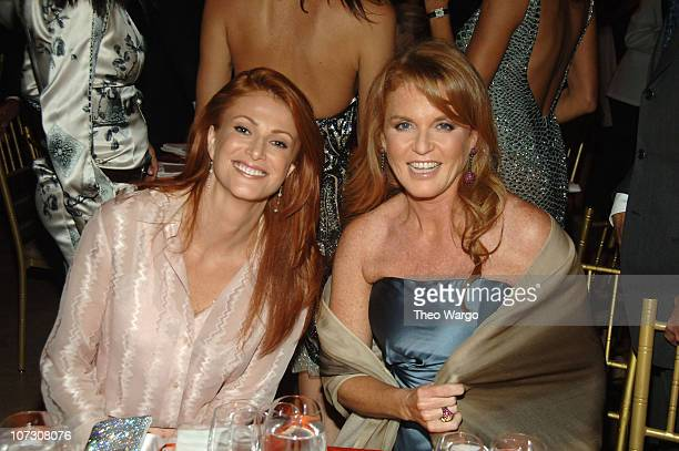 Angie Everhart and Sarah Ferguson during Santana Performs at The 2006 Cipriani/Deutsche Bank Concert Series Benefiting amfAR at Cipriani Wall Street...
