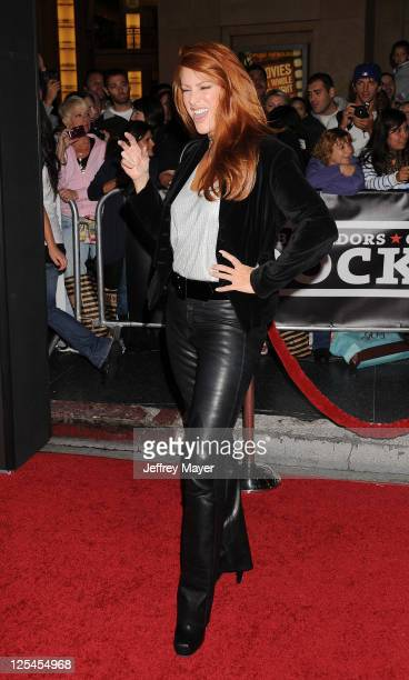 Angie Everhart arrives at the Hard Rock Cafe Hollywood Grand Opening at Hard Rock Cafe Hollywood on October 21 2010 in Hollywood California