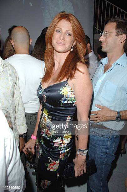 Angie Everhart during Denise Rich's Annual Summer Party Inside in St Tropez France