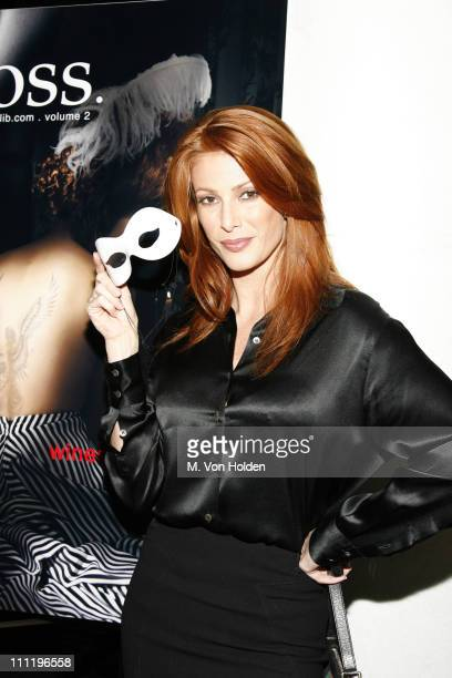 Angie Everhart during JuliB Masquerade Hosted by Angie Everhart at The Night Hotel in New York City New York United States