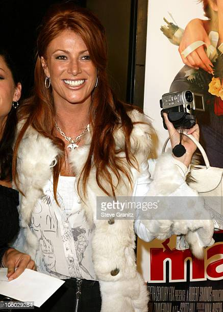 Angie Everhart during 'Just Married' Los Angeles Premiere at Pacific Cinerama Dome in Hollywood California United States